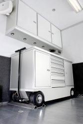 6 drawer pit cart in trailer