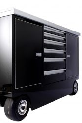 6 drawer pit cart with black paint