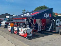 QA1 Display carts under awning