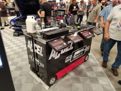 Display cart at Sema