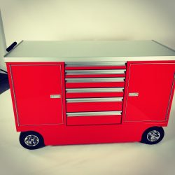 6 drawer pit cart with red paint